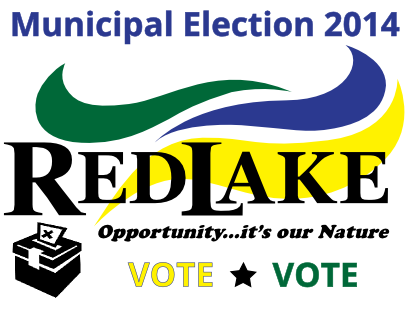 vote red lake promotional graphic